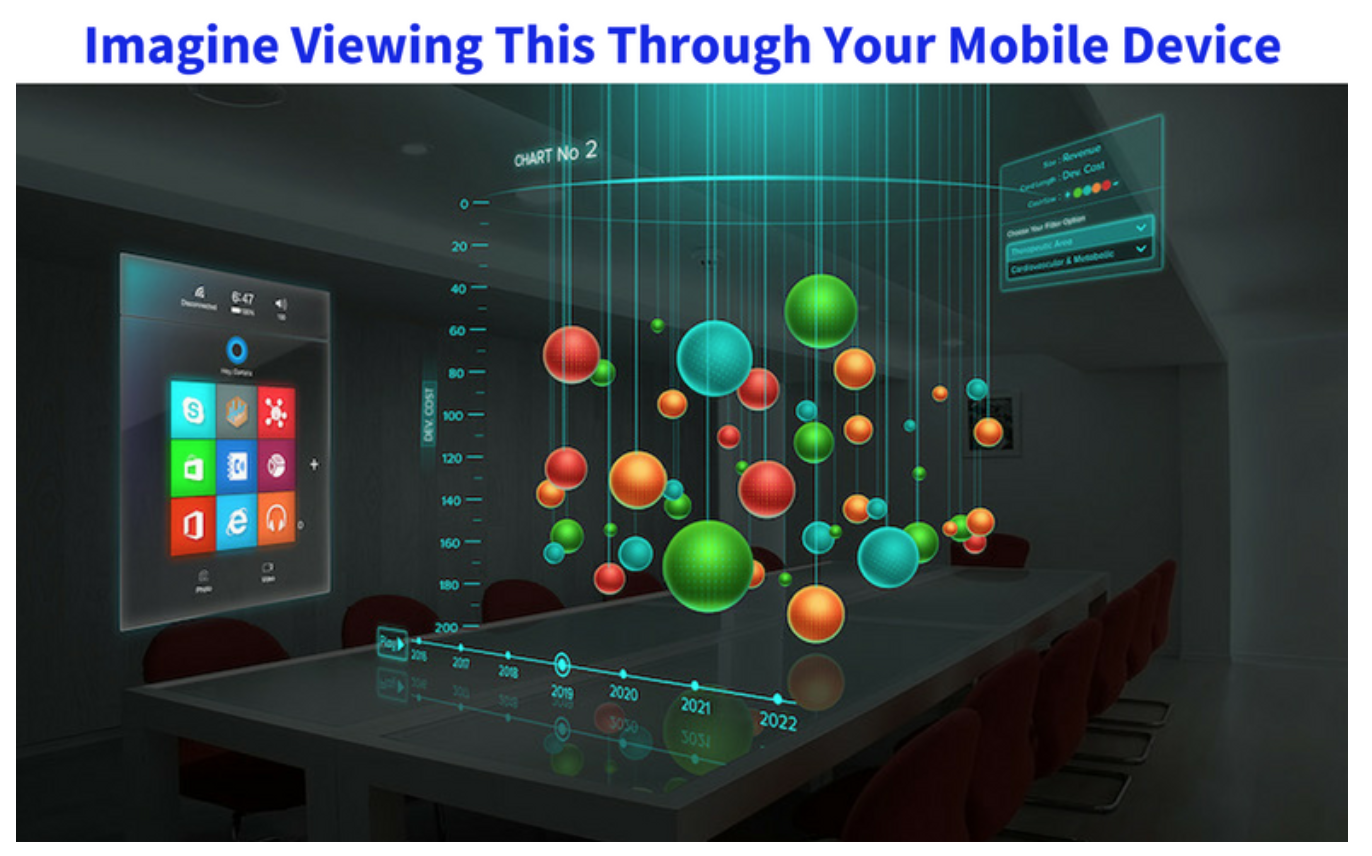 AR mobile data visualization